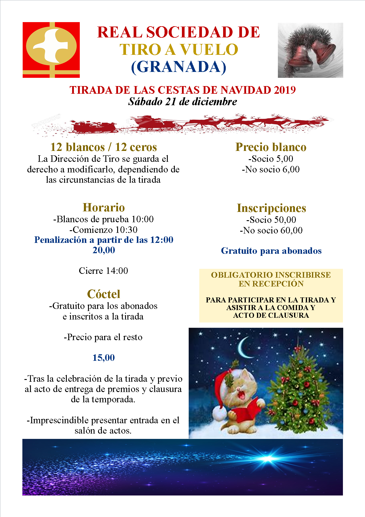 TIRADA DE LAS CESTAS DE NAVIDAD 2019