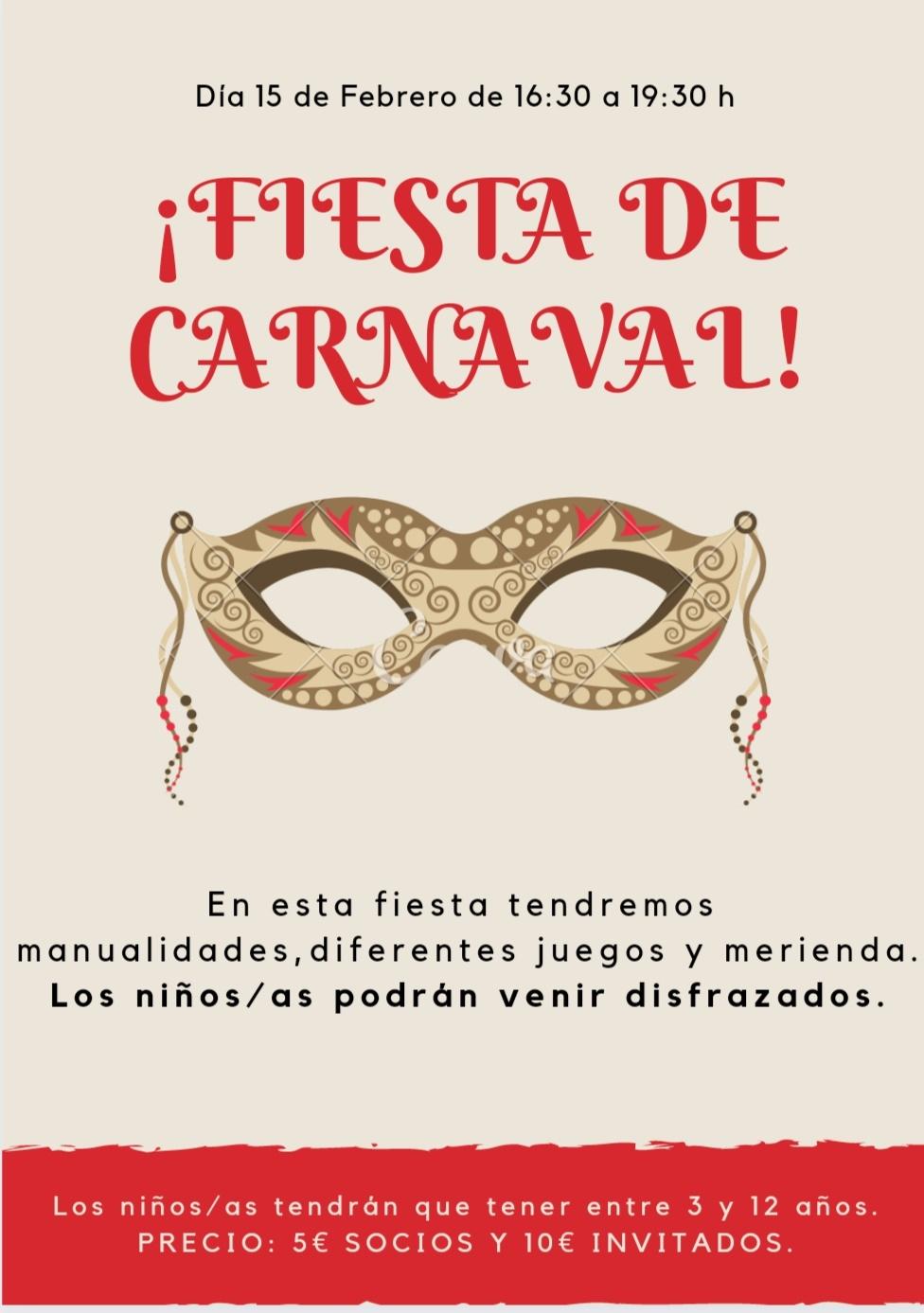 FIESTA DE CARNAVAL INFANTIL 2020